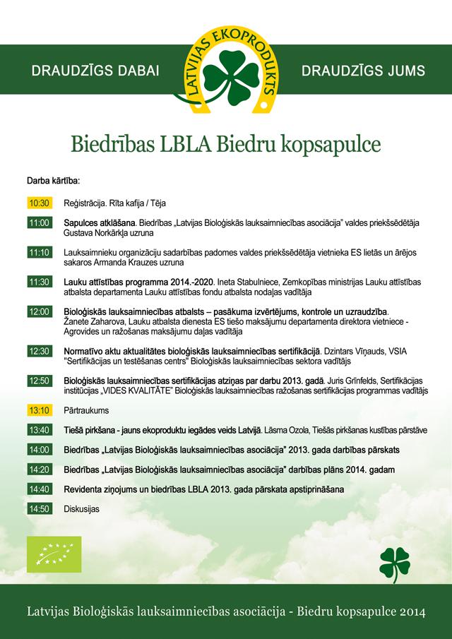 Biedrība LBLA biedru kopsapulce 2014