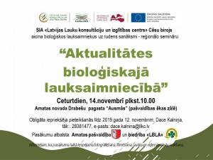 Afiša reģionālajam semināram_14.11.19